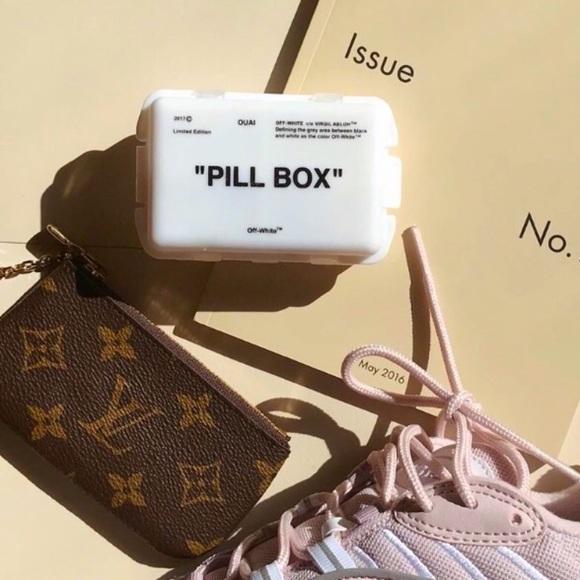 Off White Pill Case